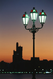 Uae  United Arab Emirates  Abu Dhabi City and Arabic Streetlamps