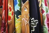 French Polynesia  Tahiti  Papeete  Market Tahitian Pareo  Wraps