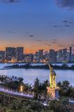 Japan  Tokyo  Odaiba Waterfront at Twilight