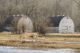 Washington State Two Barns  at the Nisqually Wildlife Refuge