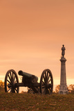 USA  Pennsylvania  Gettysburg  Battlefield Monument and Cannon