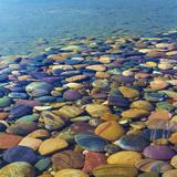 USA  Utah Colorful Rocks in Lake Powell