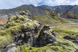 Landscape of a Mountain Range Through Landmannalaugar  Iceland