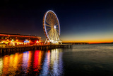 USA  Washington  Seattle the Seattle Great Wheel on the Waterfront