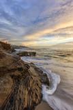 Sunset at Windansea Beach in La Jolla  Ca