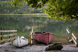 Boats on Buttermere Lake  Cumbria  Lake District  England