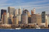 USA  New York  Manhattan Skyline from Jersey City  Late Afternoon