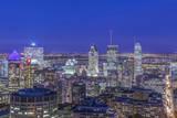 Canada  Quebec  Montreal  Skyline at Twilight