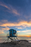 Lifeguard Stand at Sunset in Carlsbad  Ca