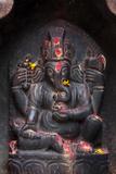 Kathmandu  Nepal Votive Shrine to the Hindu Deity Ganesh