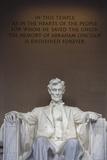 USA  Washington Dc  Lincoln Memorial  Statue of Abraham Lincoln
