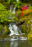 Heavenly Falls  Portland Japanese Garden  Oregon  Usa