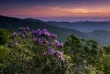 Sunset  Cowee Mountain Landscape  Blue Ridge Parkway  North Carolina