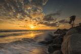 Sunset Along Tamarack Beach in Carlsbad  Ca