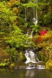 Heavenly Falls  Portland Japanese Garden  Oregon  Usa
