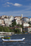 Greece  West Macedonia  Kastoria  View of Town by Lake Orestiada
