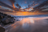 Sunset from Tamarach Beach in Carlsbad  Ca
