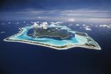 French Polynesia  Bora Bora  Aerial View of Bora Bora Island