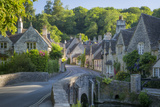 Early Morning in Castle Combe  Cotswolds  Wiltshire  England