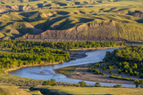 Marias River State Park in Spring Near Shelby  Montana  Usa