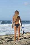 Surfer Girl at Playa Kanoa  Curacao  Netherlands Antilles  Mr