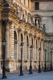 Lampposts Against the Architecture of Musee Du Louvre  Paris  France