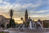Sunset at Balboa Park in San Diego  Ca
