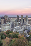 Canada  Quebec  Montreal  Sunset on Mount Royal