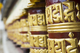 Nepal Prayer Wheels in Khumjung Solukhumbu  Mt Everest  Himalayas