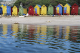 South Africa  Cape Town  View of Beach Huts