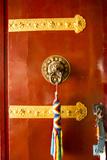 Door with Thong  Drikung Kagyu Richening Monastery Kathmandu  Nepal