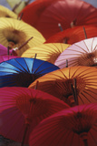 Colorful Paper Parasol  Close-Up