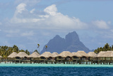 French Polynesia  Society Islands  Motu Tautau Stilted Hotel Suites
