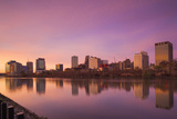 USA  New Jersey  Newark  City Skyline from Passaic River  Dawn