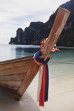 Thailand  Phuket  Phi Phi Islands  View of Long-Tail Boat and Lagoon