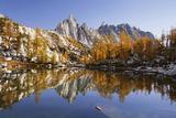 Washington  Prusik Peak Reflected in Sprite Lakelet Enchantment Lakes
