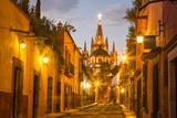 Cobblestones of Aldama Street  San Miguel De Allende  Mexico