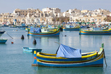Luzzu Fishing Boats on the Harbor of Marsaxlokk  Malta