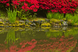 Portland Japanese Garden in Spring  Portland  Oregon  Usa