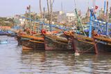 Fishing Fleet Phan Thiet Harbor Bhin Thuan Province Vietnam