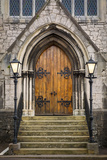 Wooden Doors at Entrance to Trinity Presbyterian Church  Cork  Ireland