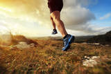 Outdoor Cross-Country Running in Early Sunrise Concept for Exercising  Fitness and Healthy Lifestyl