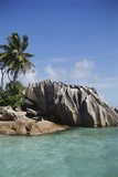Seychelles  View of Praslin Island
