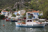 Greece  Thessaly  Trikeri  Pelion Peninsula  Town View from Harbor