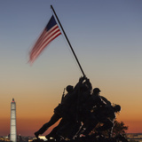 USA  Virginia  Arlington  Us Marine and Iwo Jima Memorial  Dawn