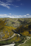 Aerial of Taieri River and Taieri Gorge  South Island  New Zealand