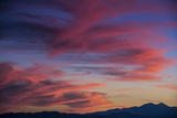 Colorful Sunset Scenic over the Oquirrh Mountains in Utah