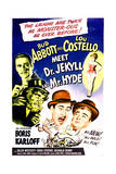 Abbott and Costello Meet Dr Jekyll and Mr Hyde - Movie Poster Reproduction