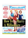 How to Marry a Millionaire - Movie Poster Reproduction