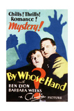 By Whose Hand - Movie Poster Reproduction